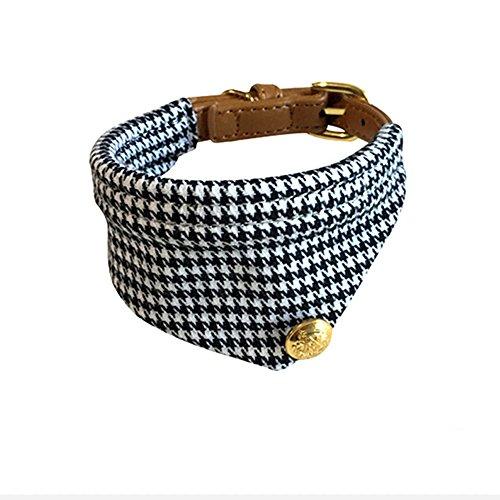 Yonfan Hundehalsband mit Tuch Verstellbar Hund Halstuch Halsband für Kleine Hund, Welpen, Katze, Haustier, Schwarz