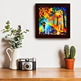 #4: Story@Home Picture Perfect Love Couple with Umbrella Art Framed Wall Painting (Wood, 30 cm x 3 cm x 30 cm)