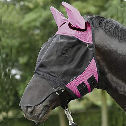 BUSSE everline Fliegenmaske FLY COVER PRO, pink/schwarz, Warmblut, extra groß -