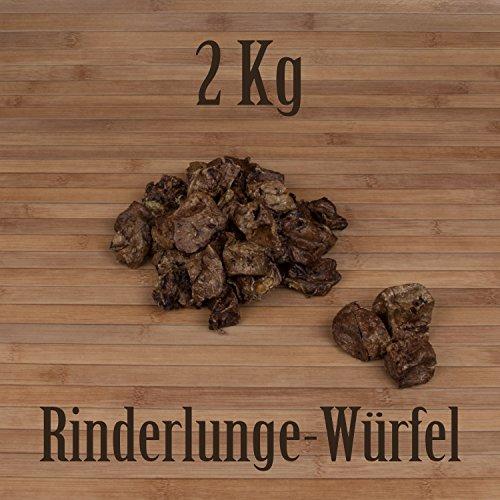 2 Kg Rinderlunge Würfel fettarm Leckerlie Belohnung Traning Kausnack Kauartikel - Pfund 2 Würfel