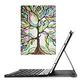 Fintie Tastatur Hülle für Samsung Galaxy Tab S2 9.7 T810N / T815N / T813N / T819N (9,7 Zoll) Tablet - Ultradünn Schutzhülle mit magnetisch abnehmbar drahtloser Bluetooth Tastatur, Liebesbaum