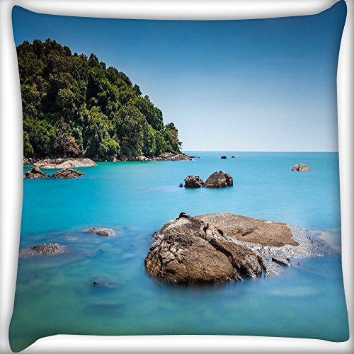 Lila Bestickt Rock (Rocks in the Ocean Home Decor Werfen Sofa Auto Kissenbezug Kissen Fall 30,5x 30,5cm)