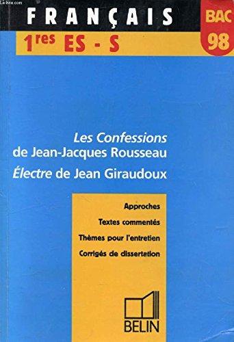 BAC français 1998, 1res ES, S