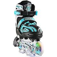 Apollo Super Blades X Pro, tamaño ajustable (calzado 31 - 38), Inline skates con ruedas luminosas LED rollerblades para niños, ideales para principiantes patines en línea confortables para chicos y chicas