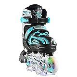 Apollo Super Blades X Pro, misura S, M, L, pattini inline-skate LED, rollerblade per...