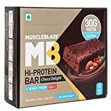 #7: Muscleblaze Hi-Protein Bar 30G Protein - Chocolate Delight (Pack Of 6)