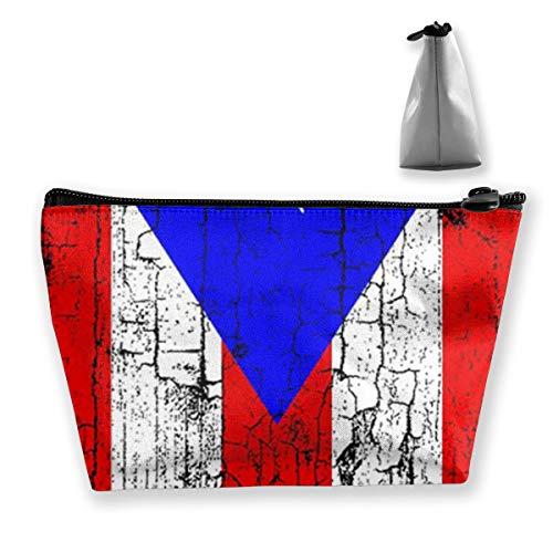 uerto Rico Flag3 Tixing Trapez Reise Make-Up Tasche Kosmetiktaschen 7x12x22CM ()