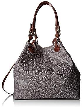 Chicca Borse Damen 80049 Umhängetasche, 32.5x28x16.50 cm