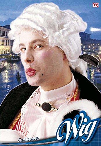 Widmann a6176 - casanova parrucca, in stile barocco, bianca, in taglia unica
