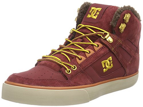 Rot Schuhe Dc-high-tops (DC Spartan High WC M Shoe BWW, Herren Hohe Sneakers, Rot (Brown/Wheat BWW), 46 EU)
