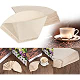 Homely Useful 40Pcs/Lot Hand-Poured No. 101 Coffee Paper Filter Hand Drip Folded For Filter Bowl Drip Coffee Machine Kitchen CAF