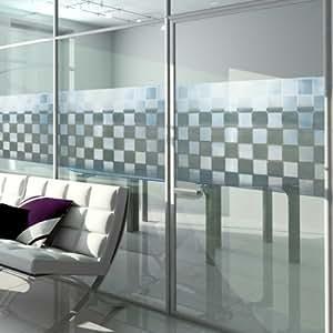 Film electrostatique decoratif pour vitrage rouleau 46cm x 200 cm cuisine maison - Film electrostatique pour vitrage ...