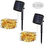 2 Packungen Solar Lichterkette Aussen 5M