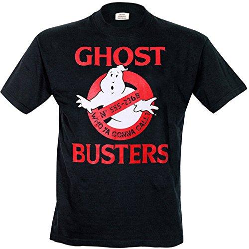 Unbekannt Herren T-Shirt Ghostbusters Logo Schwarz (Noir)