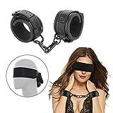SM Handschellen und Augenmaske Augenbinde Fetisch Sex Spielzeug für Paare,BDSM Fetich Bondage Set Für Fesseln Sexspielzeug für Paare Extrem