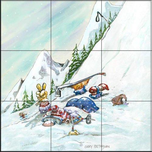 Fliesenwandbild - Gestärkt aus der Hill - von Gary Patterson - Küche Aufkantung/Bad Dusche