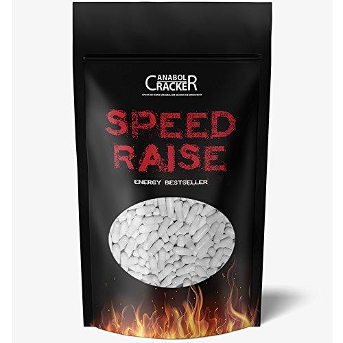 *560 Tabletten – Speed Raise, Coffein / Koffein, 200mg Rein + Hochdosiert, Caffeine Energy, beste Diät / Fettverbrennung / Fatburner – Vegan, ohne Gelantine*