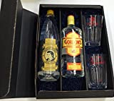 Gordons Gin Tonic Set / Geschenkset - Gordons London Dry Gin 700ml (37,5% Vol.) + Thomas Henry Tonic Water 1000ml + 2x Shakers Gläser