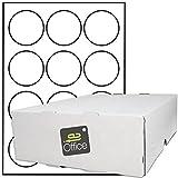 TE-Office 6000 Stück Haftetiketten Klebeetiketten Versandetiketten auf A4 Bogen weiß matt 60 Ø mm Laser Inkjet