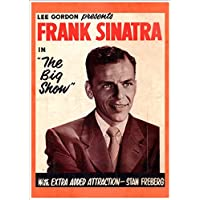 """""""FRANK SINATRA in THE BIG SHOW"""" A4 Glossy Vintage Concert Poster Art Print"""