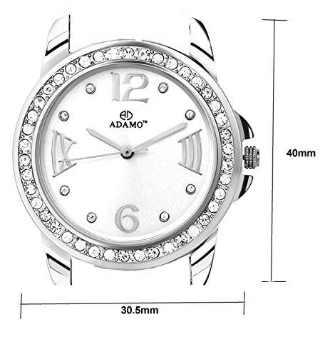 ADAMO Analogue White Dial Women's Watch -AD39SM01