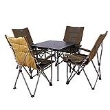 KFXL yizi Klapptische Und Stühle Im Freien Hoher Zurück Angeln Stuhl Barbecue Strand Tisch Und Stuhl Tragbare Stuhl 3 Farbe Optional (Farbe : Brown, größe : 2#)