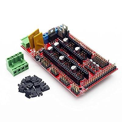ARCELI 3D Drucker Controller RAMPS 1.4 Mega Shield für Arduino Reprap Prusa Mendel