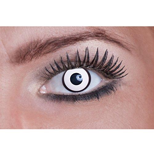 Eyecatcher m06 - (Halloween Weiße Kontaktlinsen)