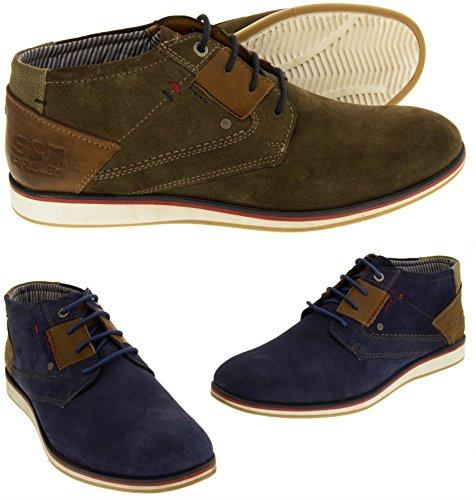 S.oliver Desert Boots Hommes bottes en daim réel du désert Hommes Bottes Bottines en cuir