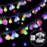 B-right 40 LEDs Globe Lichterkette, LED Lichterkette Bunt, Globe String Licht Sternenlicht, Innen- und Au?en Deko Gl¨¹hbirne, Weihnachtsbeleuchtung f¨¹r Weihnachten Hochzeit Party Weihnachtsbaum ¡