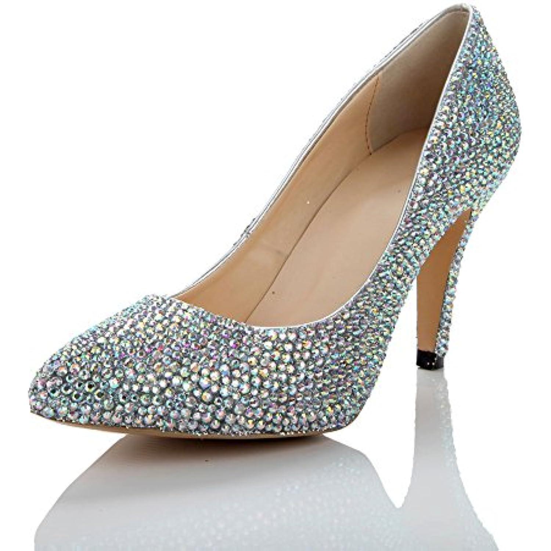 1b3339ccbd84d Lacitena Femme Pump Dress Chaussures Chaussures de Mariage Argent - - -  B07FF367GX - d7bf88