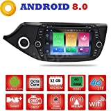 Android 8.0 GPS DVD USB SD Wlan Bluetooth Mirrorlink Autoradio 2 Din NAVI Kia Ceed/Cee 'd 2012, 2013, 2014, 2015, 2016