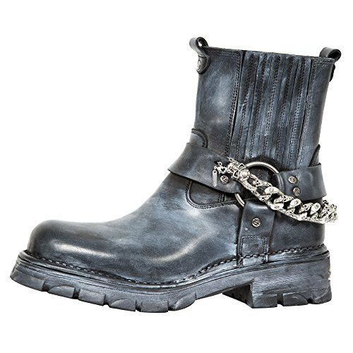 New Rock M Mc7607 S1, Boots homme Noir (Raw Negro Talco/Neo Motorcycle N)