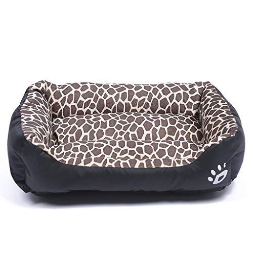 Hundebett | Sofa-Style Couch Pet Plüsch-Chaise-Bettmatratze für Hunde & Katzen - erhältlich in mehreren Farben und Stilen (Farbe : Leopard, größe : XL) -