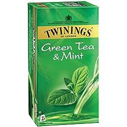 Twinings Green Tea and Mint, 25 Tea Bags