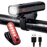 ZUKVYE Bike Light Set, USB Rechargeable Bicycle...