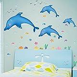 ALLDOLWEGE Kinder- Schlafzimmer Wandbild Wand Aufkleber Cartoon Sticker Kindergarten Aufkleber Dekorative Abnehmbare Wallpaper Aufkleber 110*140 cm