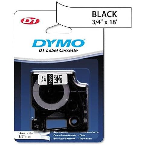 DYMO D1 cinta impresión negra/blanco poliéster photoslt, 3/4in X 548,64 cm