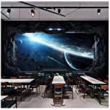 Wandbild Custom 3D Photo Wallpaper Cosmic Space Cabin Spacecraft Wall Painting 3D Restaurant Hotel Internet Gaming Room Mural Wall Paper 120X80cm,Yzra