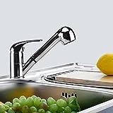 TANBURO-Grifo para Cocina y Baño, Fregaderos de Cocina Grifo extraíble Grifo con Ducha Extensible agua caliente y fría