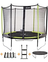 Kangui - Trampoline JUMPI POP- Ø 305 - 360 - 430 cm + Filet + Échelle + Bâche de protection + Kit d'ancrage