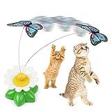 Gato juguetes interactivos Ingenio Gatos eléctrica giratoria diseñada juguete divertido de la pluma de los gatos domésticos de atracciones rueda de desplazamiento