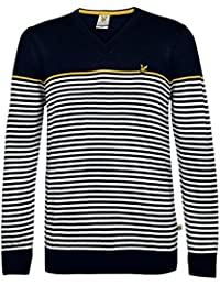 Lyle&Scott Mid Knits Sweater marine-blau