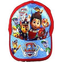 Paw Patrol Niños de niñas niños exterior Parasol Gorra de béisbol, para 2–7años, rojo