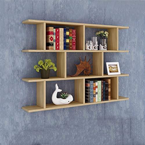 CYLQ 3 Etagen Schwebende Regale, Wandregal, Bücherregal Aus Holz Mit Mehreren Rahmen, Dekoration Wohnzimmer Schlafzimmer Regal, 3 Farben (Farbe : Holz Farbe) -