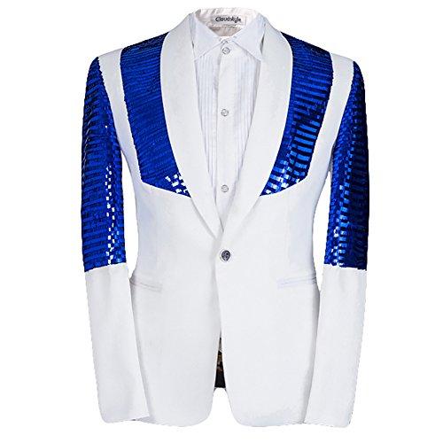 Cloud Style Herren Anzug Gr. XXXX-Large, blau (Gilet De Costume Noir Homme)