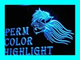 Insegna al neon i217-b OPEN Perm Color Highlight Hair Cut Light Signs