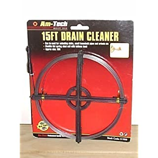 15 FT FLAT STEEL COIL DRAIN CLEANER by Amtech