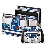 DeinDesign Nintendo Switch Folie Skin Sticker aus Vinyl-Folie Aufkleber Star Wars Merchandise Fanartikel R2D2