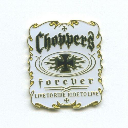 Choppers Forever Biker Motorrad Fan Metall Button Badge Pin Pins Anstecker 0035